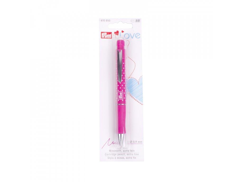 Značkovací tužka Prym Love s gumou,Růžová