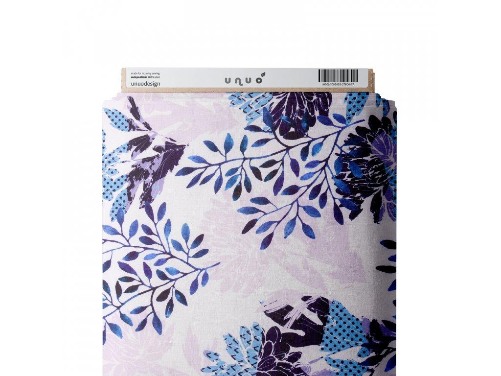 Unuo tisk, Funkční úplet Tavros Microfresh, Květinový motiv watercolor, Bílá