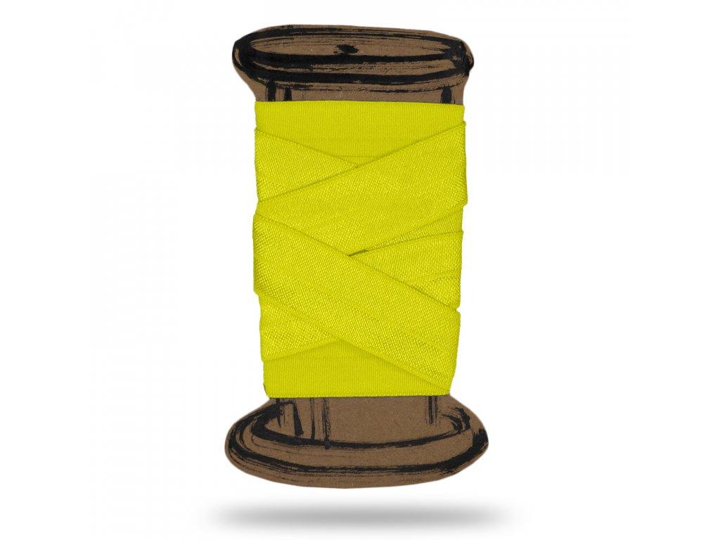 CMYK neon zluta leskla lemovaci pruzenka
