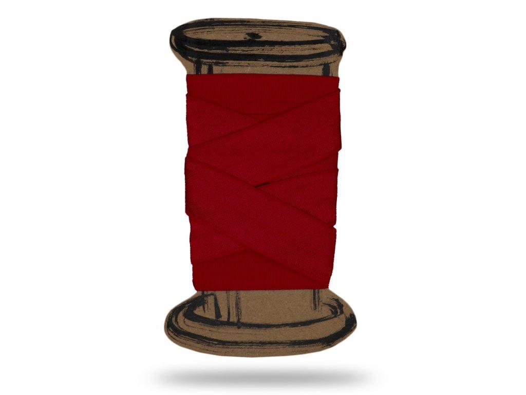 Lesklá lemovací pruženka 1,6 cm,Balení 3 m,Červená Vínová