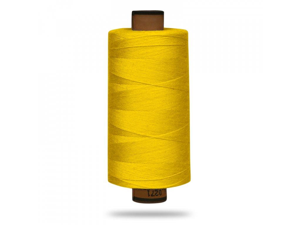 Nit polyesterová Belfil S 1000 m,607,Tm. Žlutá Výrazná