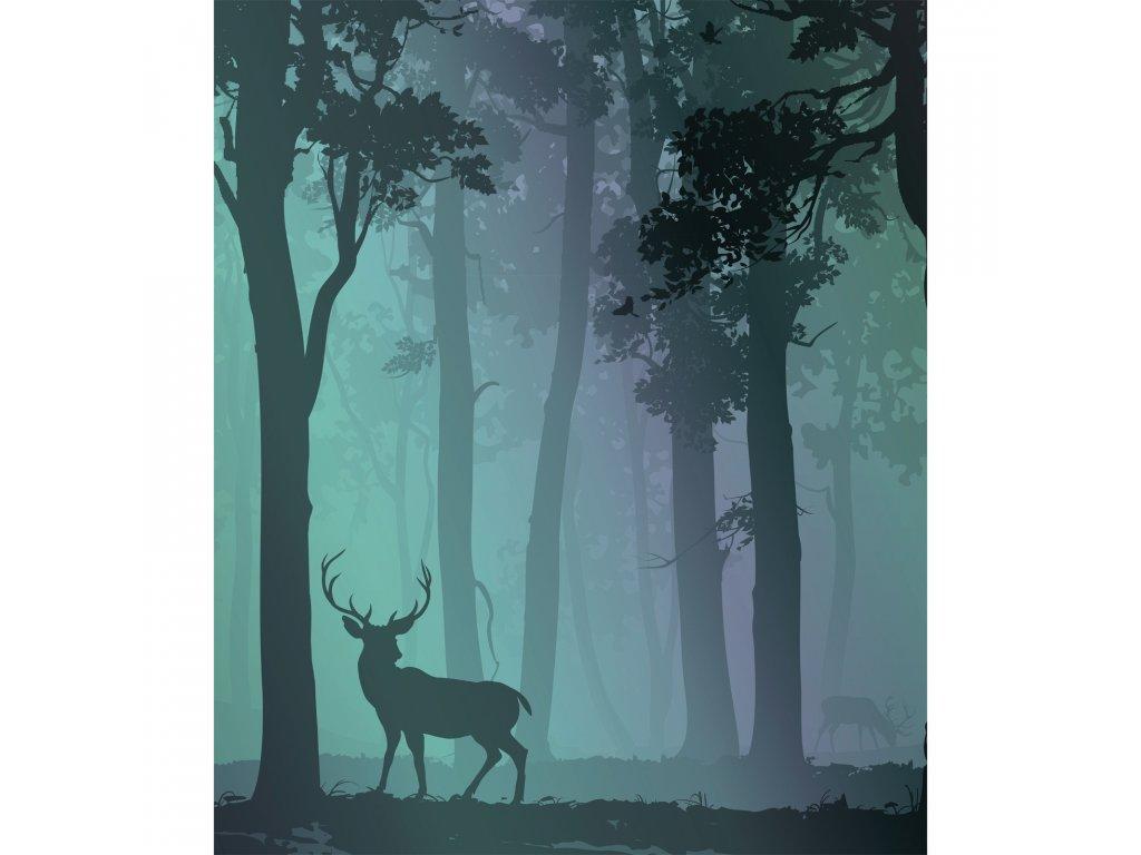 jelen ceka v lese