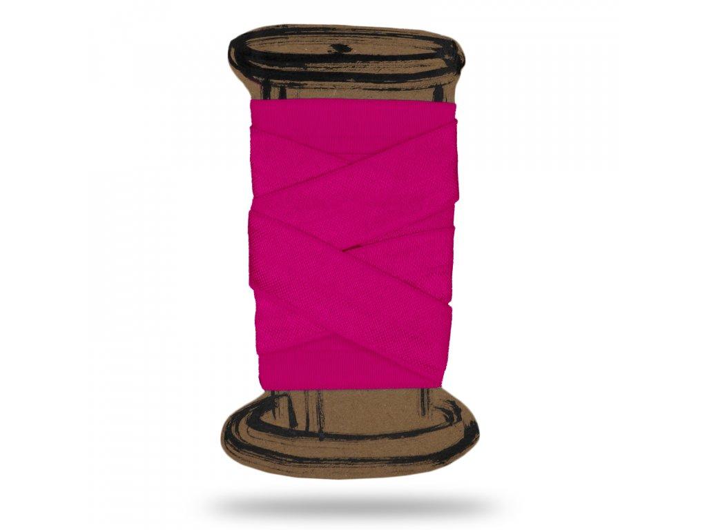 Lesklá lemovací pruženka 1,8 cm,Balení 3 m,Růžová Pastelová