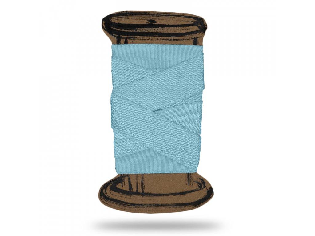 Lesklá lemovací pruženka 1,8 cm, Balení 3 m, Modrá Baby