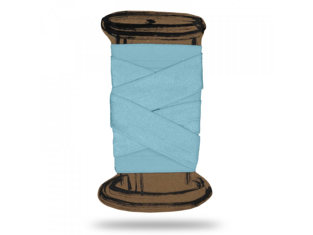 Lesklá lemovací pruženka 1,8 cm,Balení 3 m,Modrá Baby