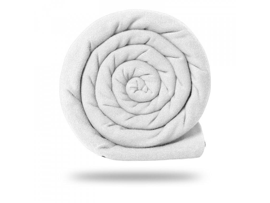 Úplet bavlněný 215 g, Bílá