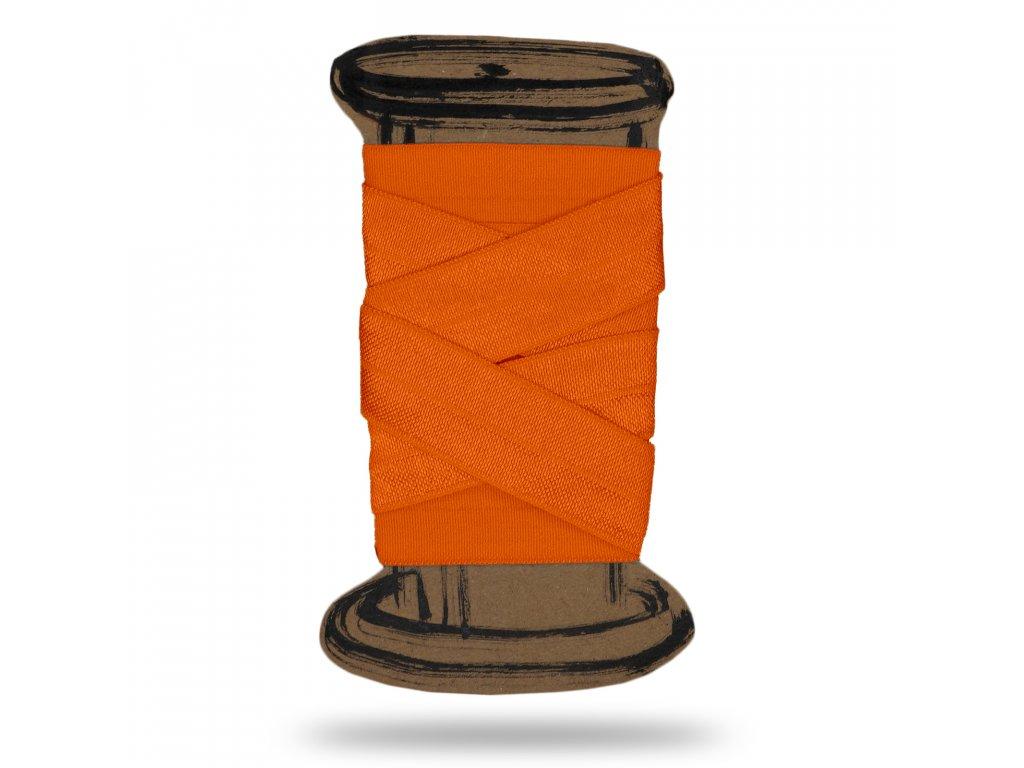 Lesklá lemovací pruženka 1,8 cm, Balení 3 m, Oranžová Svítivá