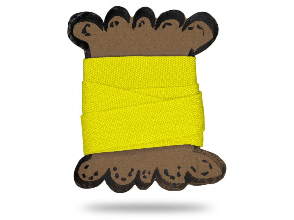 Popruh 3 cm, Balení 1 m, Žlutá Výrazná