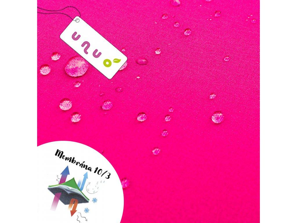 Softshell zimní s fleecem 10/3, Neonová Růžová