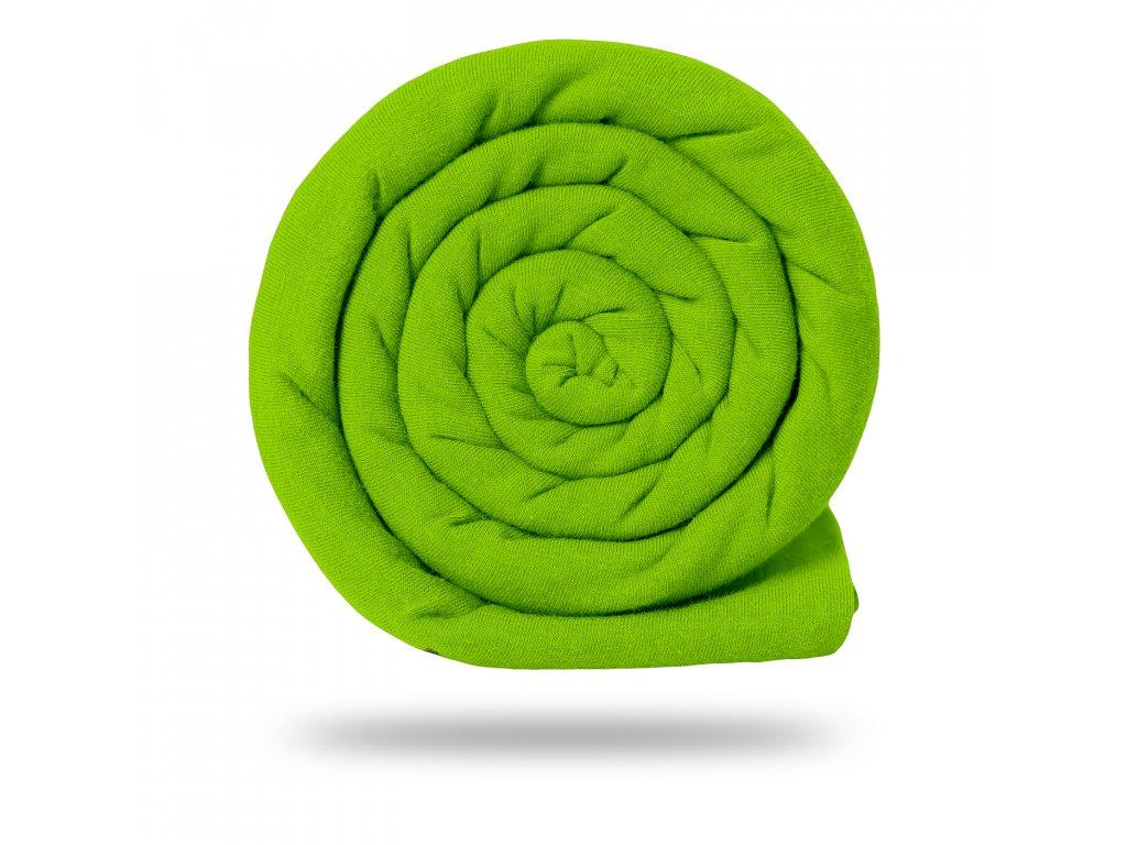 Úplet bavlněný 210 g, Limetková Výrazná