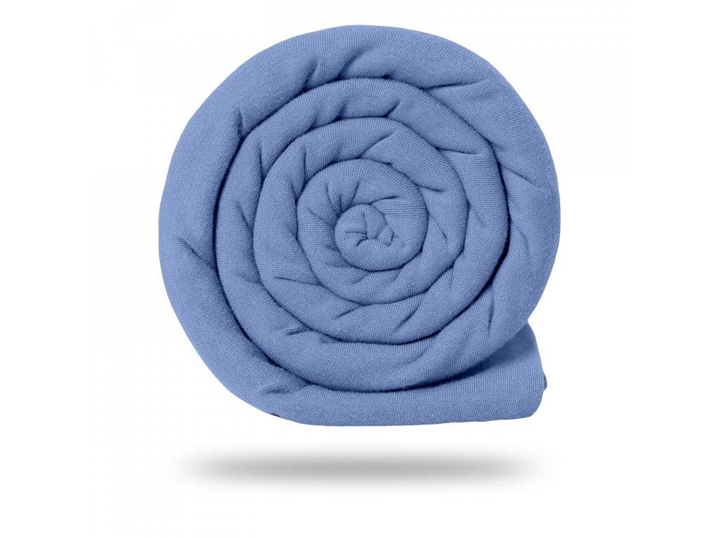 Úplet bavlněný 210 g, Sv. Modrá Tlumená