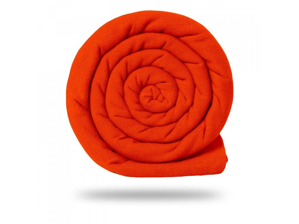 Bavlněný náplet s lycrou 220 g, Oranžová