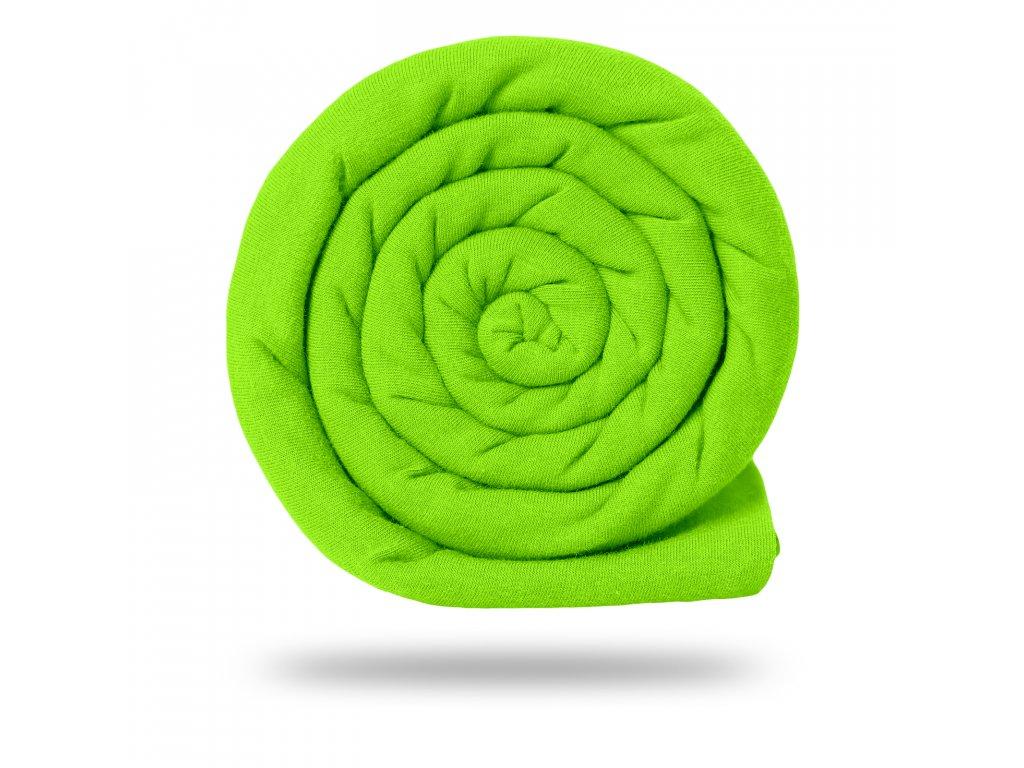 Náplet bavlněný hladký 220 g, Zelená Neon