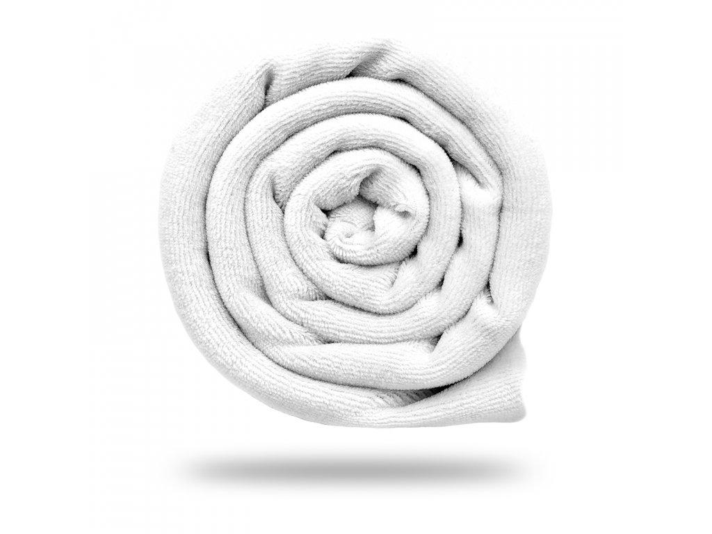 Kojenecký plyš bavlněný 250 g, Bílá