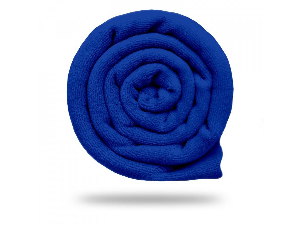Kojenecký plyš bavlněný 250 g, Tm. Modrá Královská