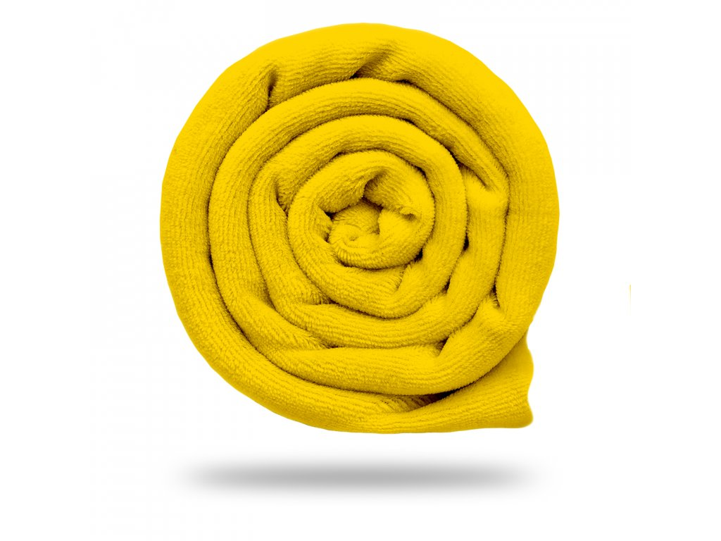 Kojenecký plyš bavlněný 250 g, Tm. Žlutá Výrazná