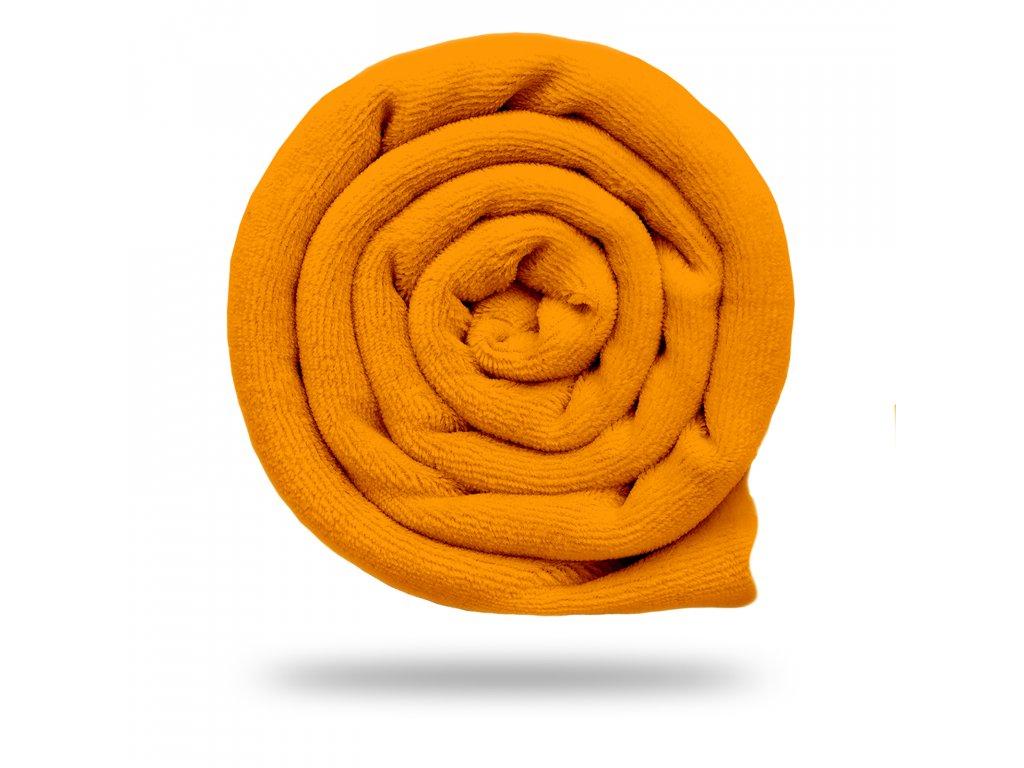Kojenecký plyš bavlněný 250 g, Oranžová
