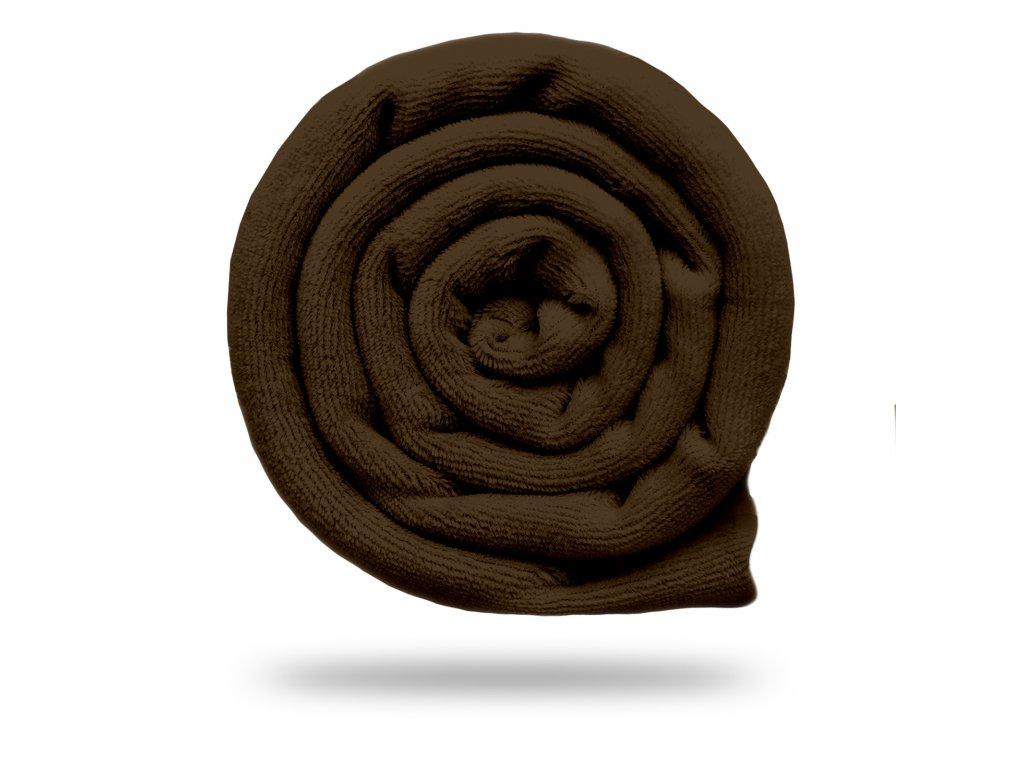 Kojenecký plyš bavlněný 250 g, Tm. Čokoládová