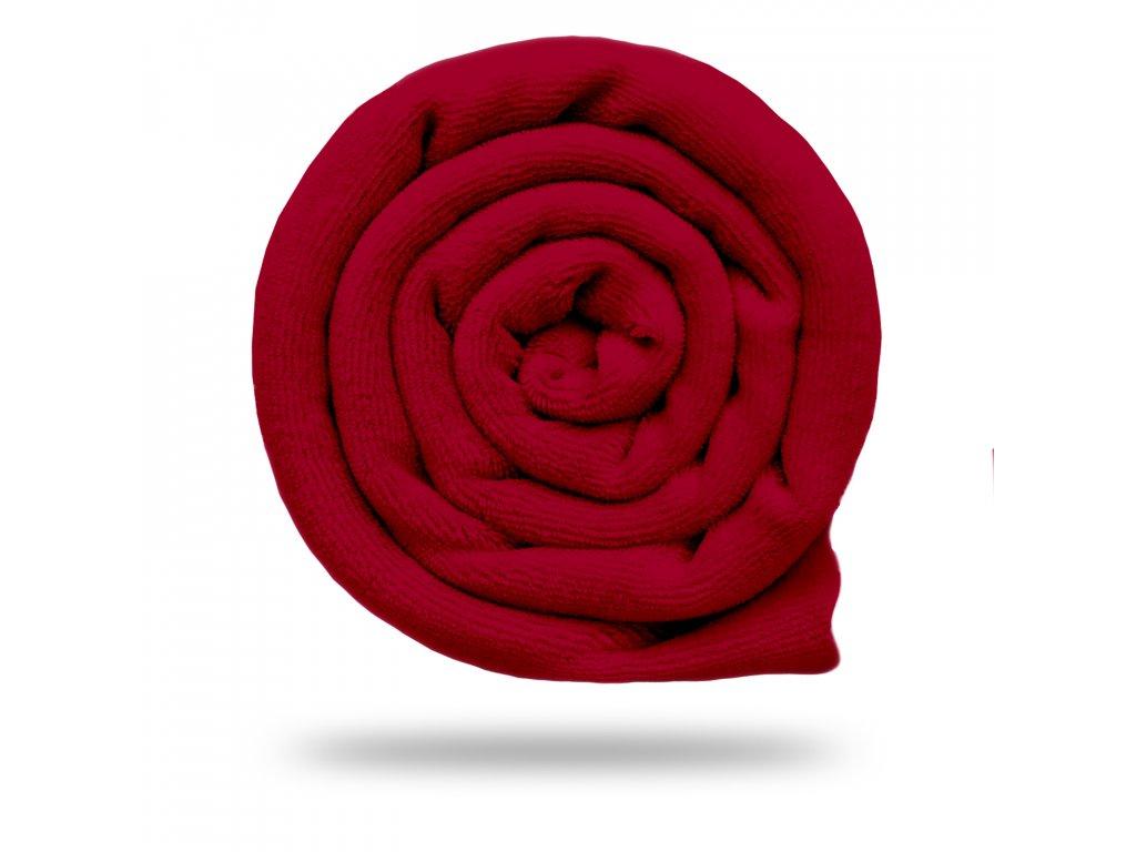 Kojenecký plyš bavlněný 250 g, Červená Vínová