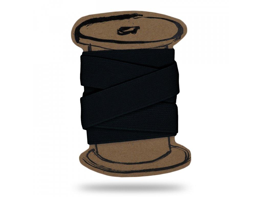 Pruženka hladká 3 cm,Balení 3 m,Černá