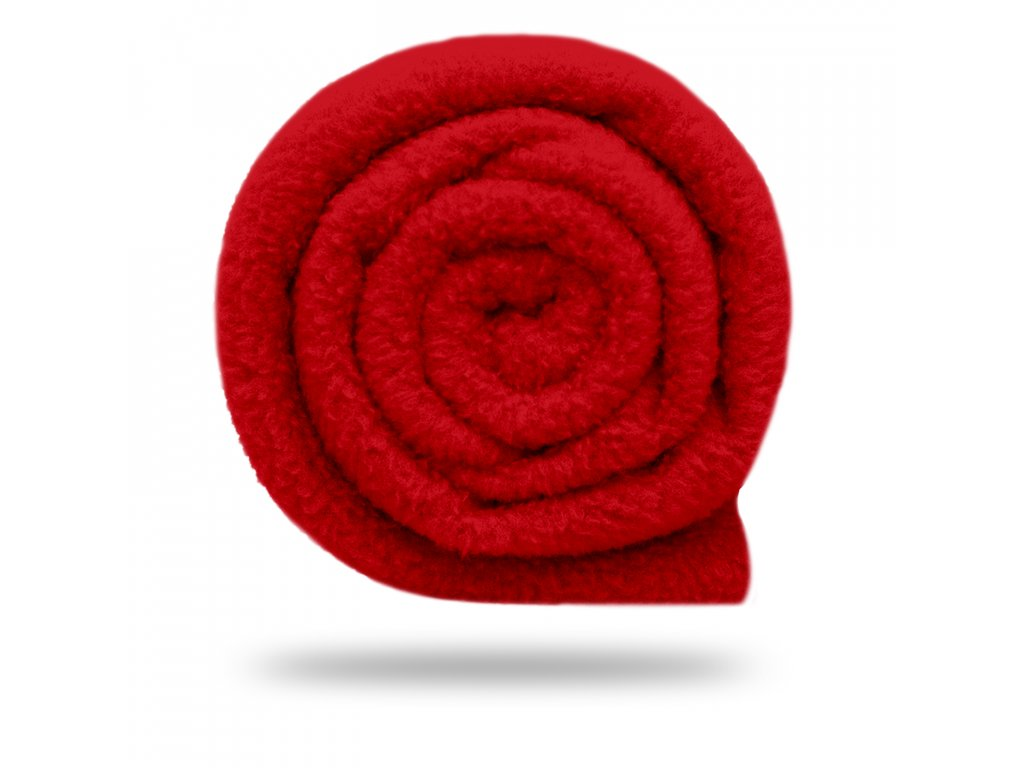 Fleece antipilling 190 g, Červená