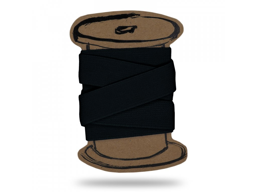 Pruženka prádlová hladká 0,5 cm,Balení 3 m,Černá