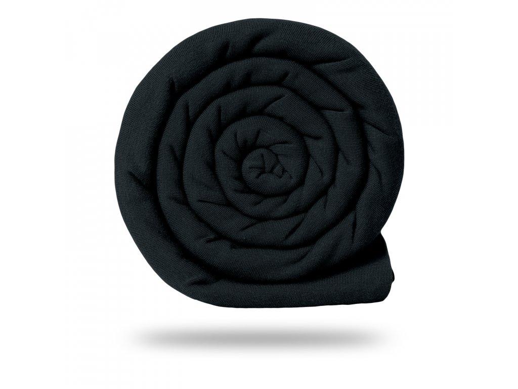 Teplákovina bavlněná nepočesaná 290 g, Černá