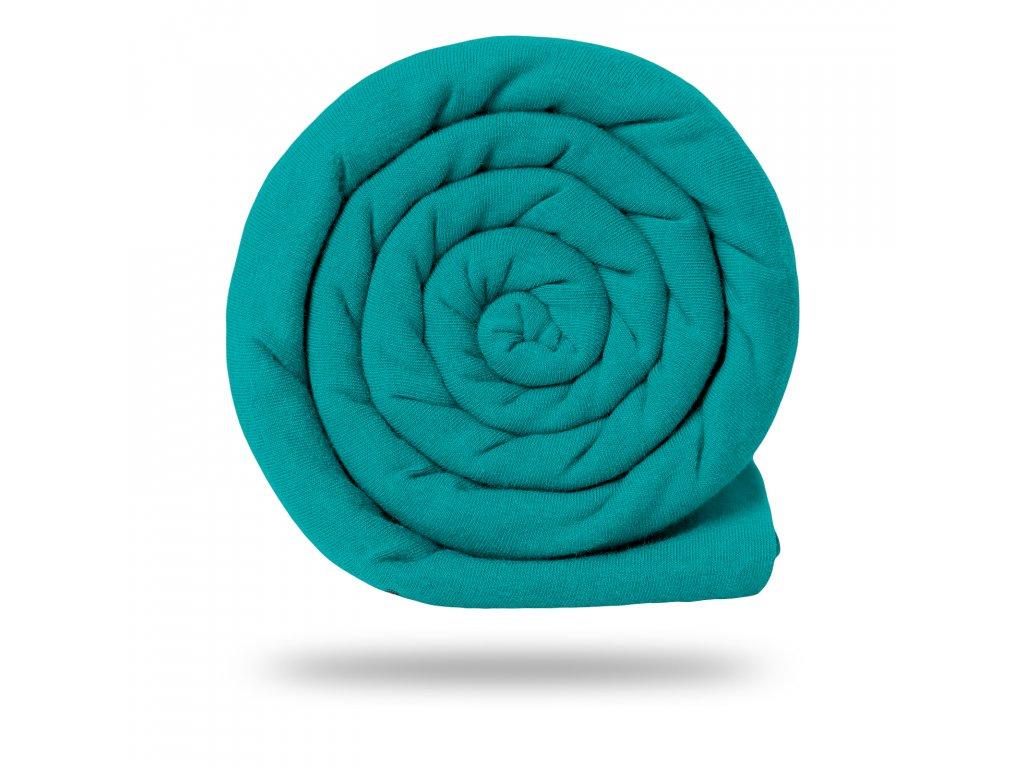 Teplákovina bavlněná nepočesaná 290 g, Smaragdová Pastelová