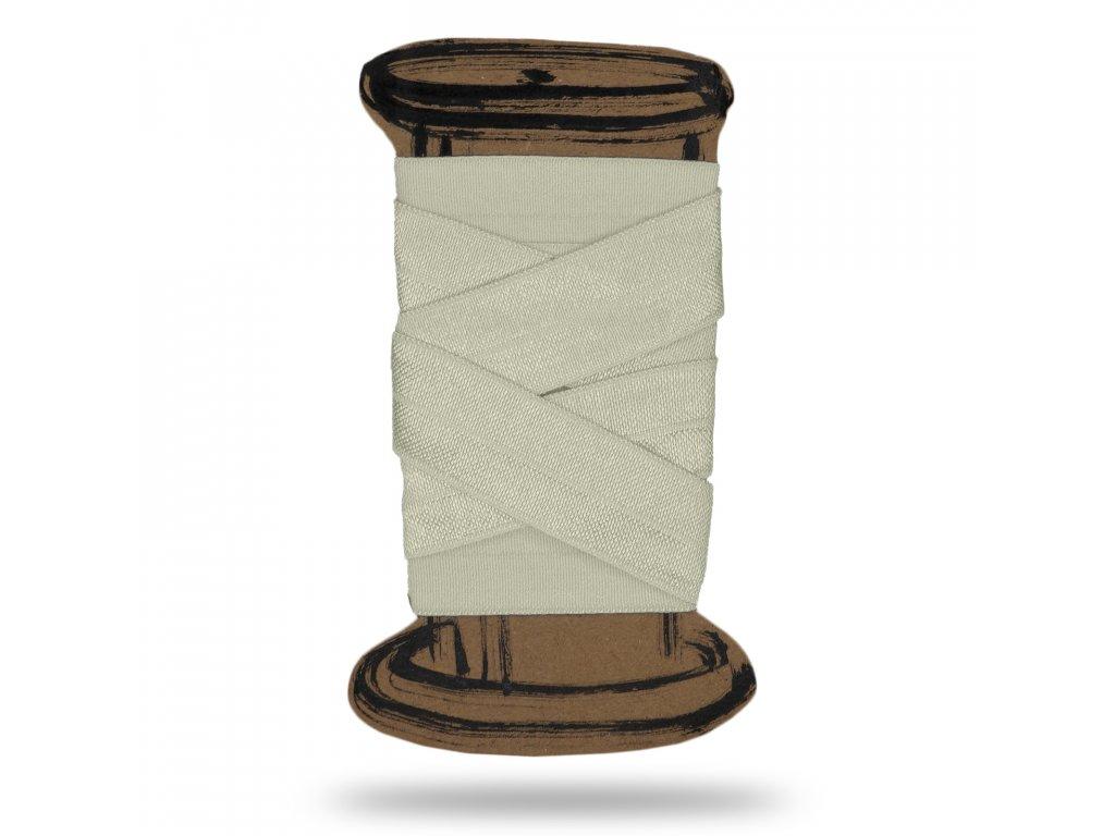 Lesklá lemovací pruženka 1,8 cm, Balení 3 m, Smetanová