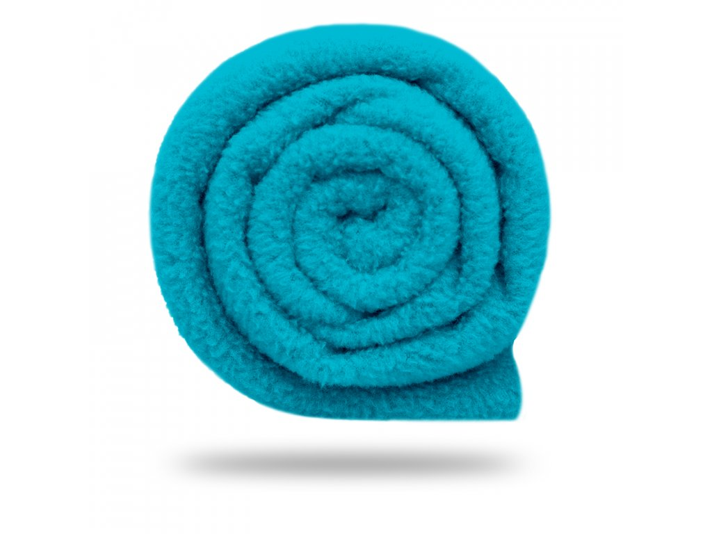 Fleece antipilling 190 g, Sv. Tyrkysová