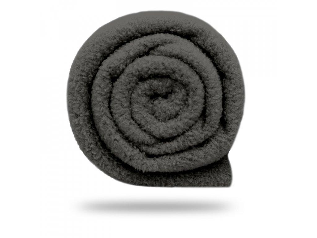 Fleece antipilling 190 g, Šedohnědá