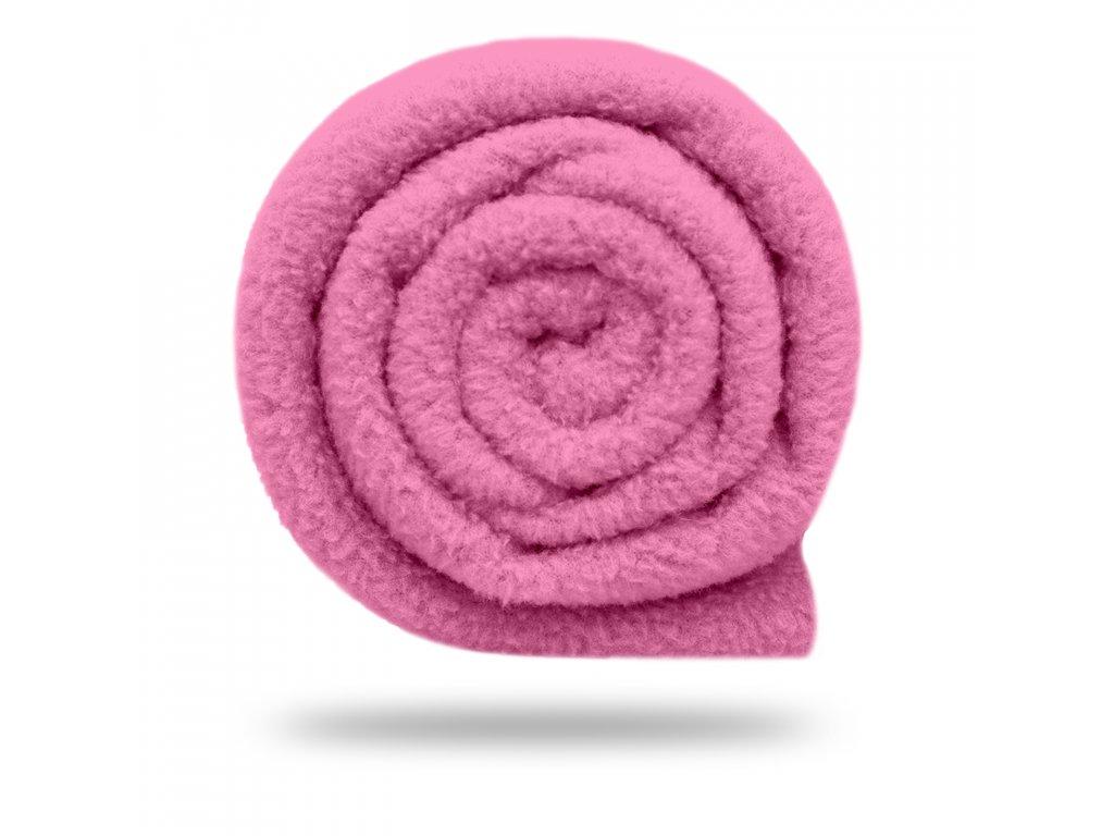 Fleece antipilling 190 g, Růžová