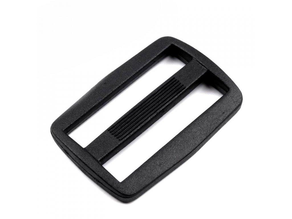 Plastový průvlek 3 cm,Černá