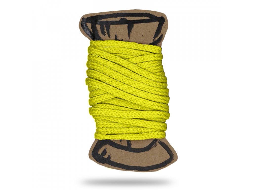 CMYK neon zluta snura polyesterova