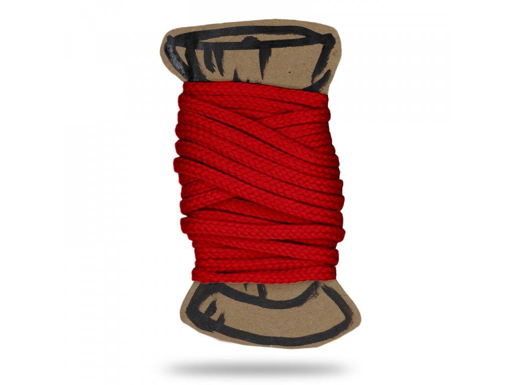 Šňůra polyesterová 0,4 cm, Balení 3 m, Červená Výrazná