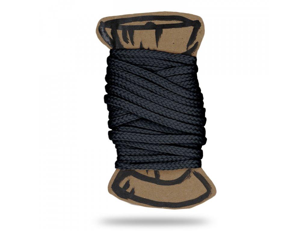 Šňůra polyesterová 0,4 cm, Balení 3 m, Tm. Šedá