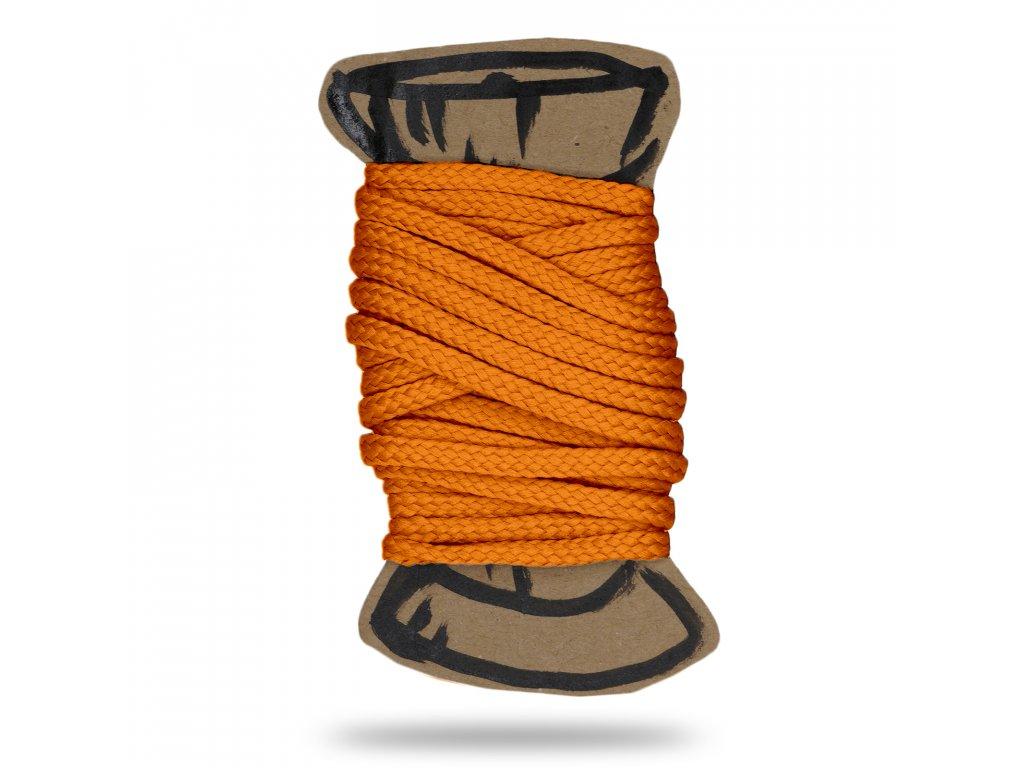 CMYK neon oranzova snura polyesterova