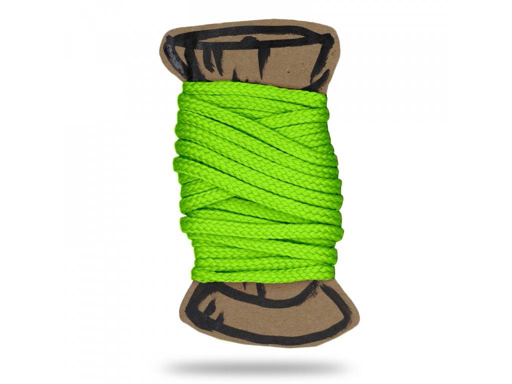 CMYK neon zelena snura polyesterova