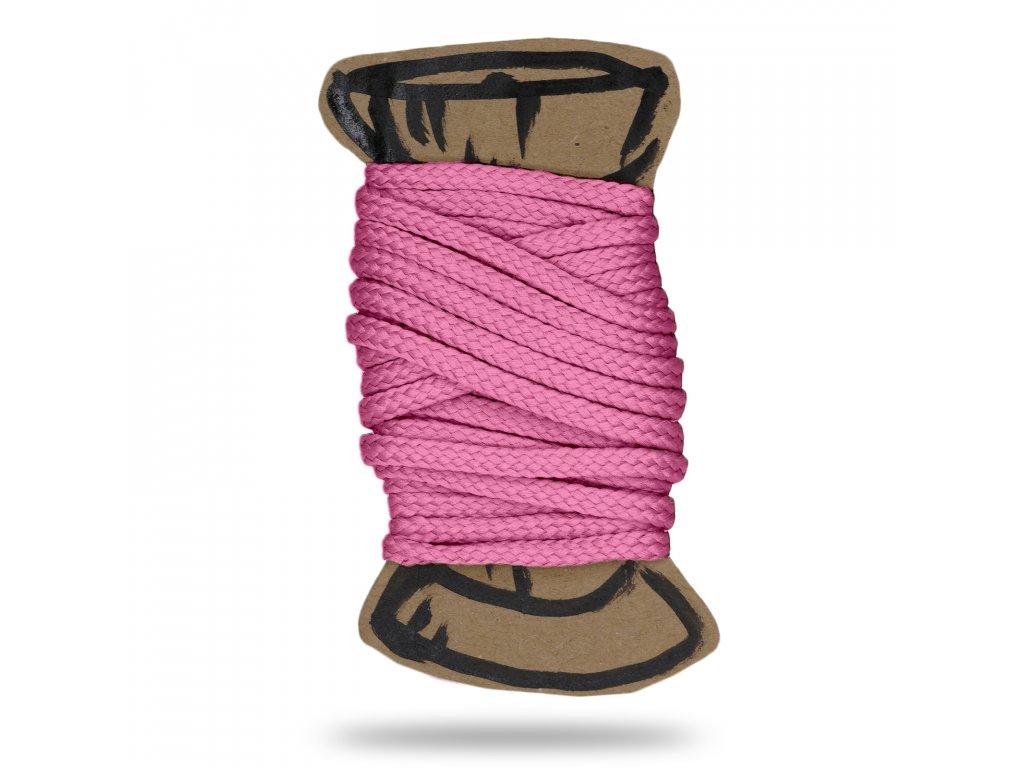 Šňůra polyesterová 0,4 cm,Balení 3 m,Růžová