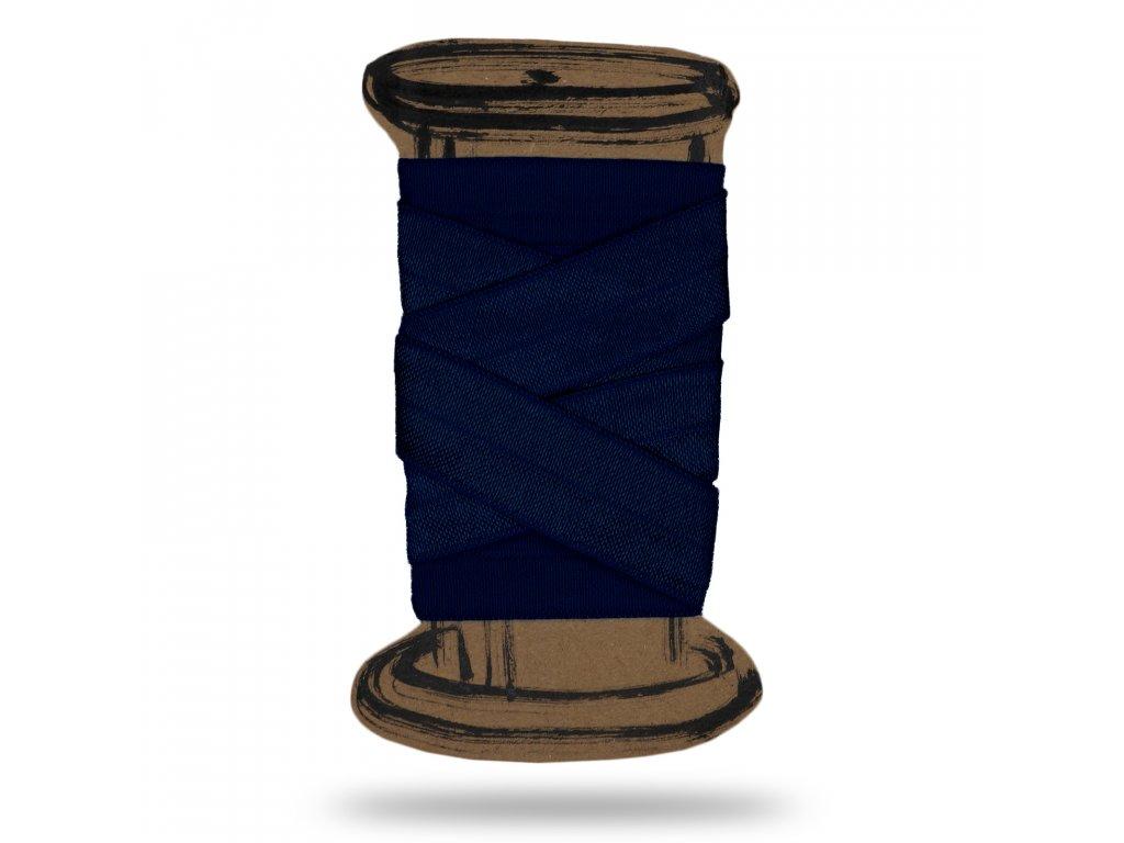 Lesklá lemovací pruženka 1,8 cm, Balení 3 m, Tm. Modrá Kobaltová