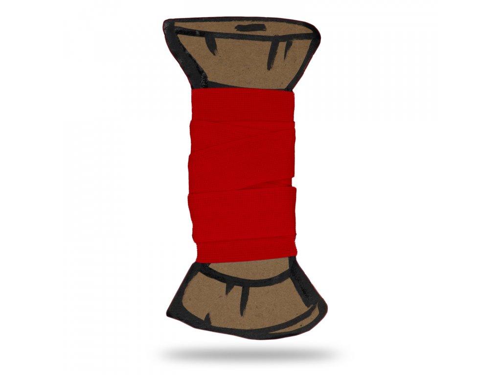 Matná lemovací pruženka 1,8 cm, Balení 3 m, Červená