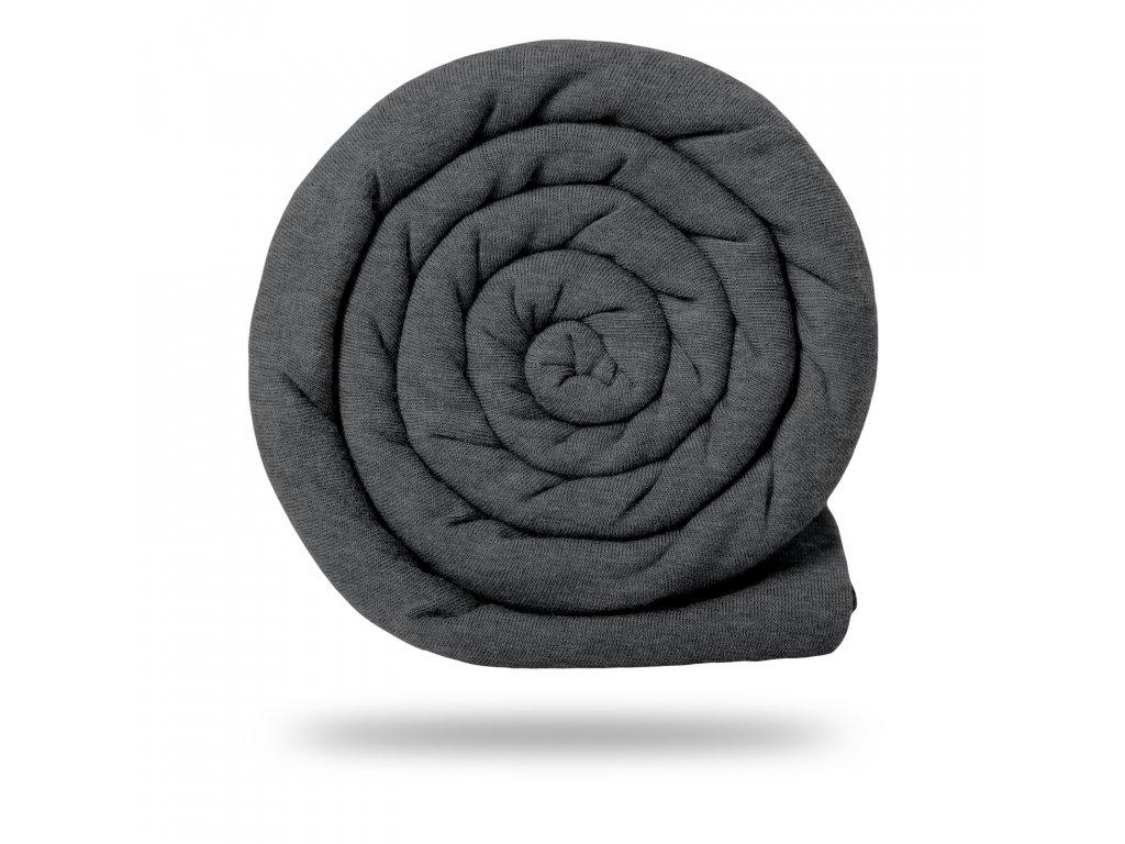 Úplet bavlněný 180 g, Černošedá Melír