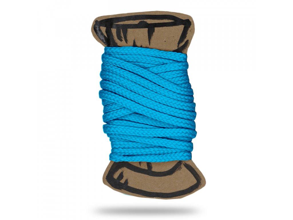 Šňůra polyesterová 0,4 cm,Balení 3 m,Sv. Tyrkysová Pastelová