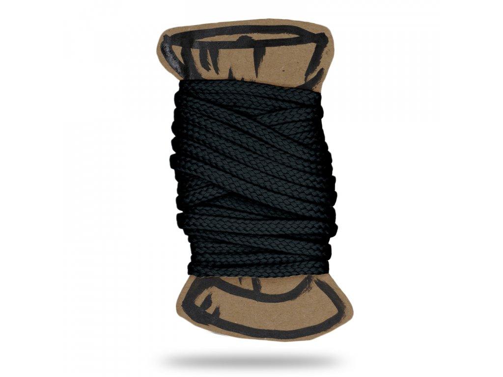 Šňůra polyesterová 0,4 cm, Balení 3 m, Černá