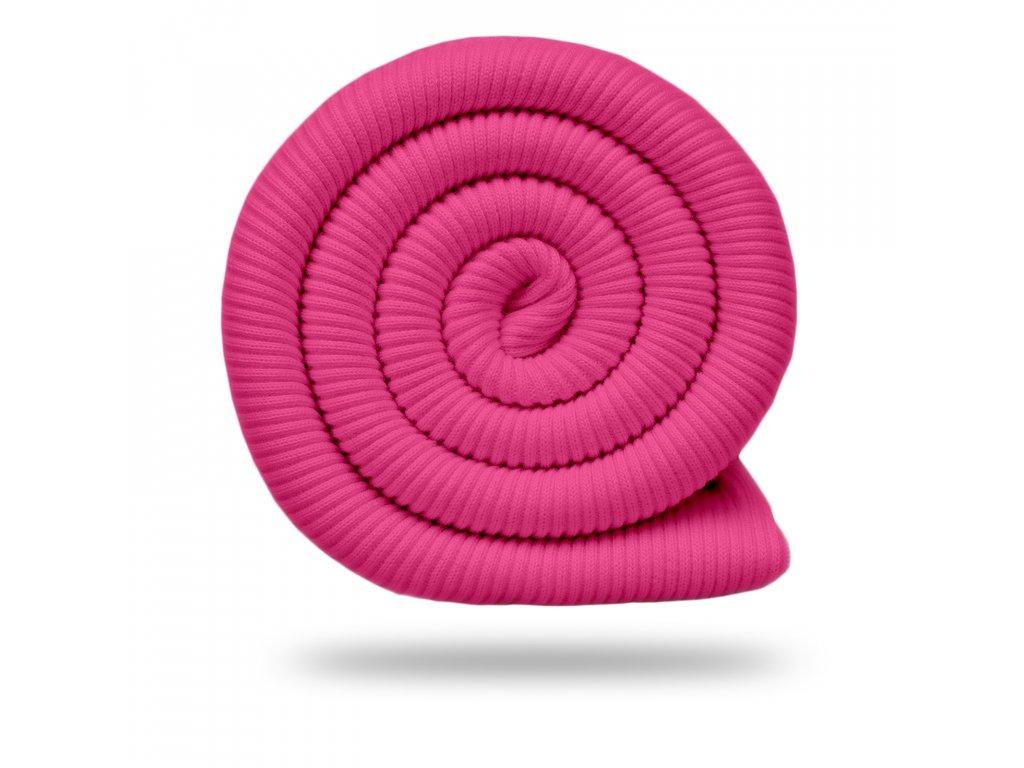 Náplet bavlněný žebrovaný RIB 430 g, Růžová pastelová