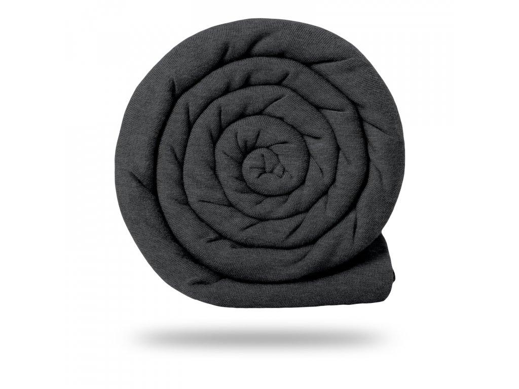 Úplet bavlněný 210 g, Černošedá Melír