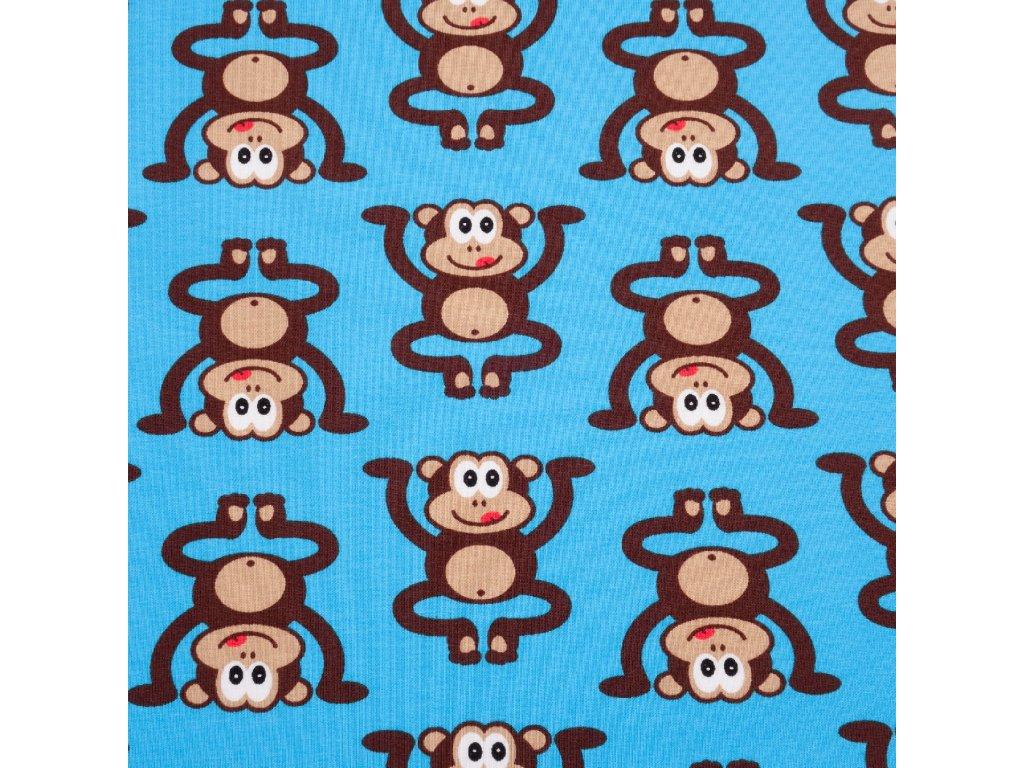 Úplet bavlněný, Opice, Modrá