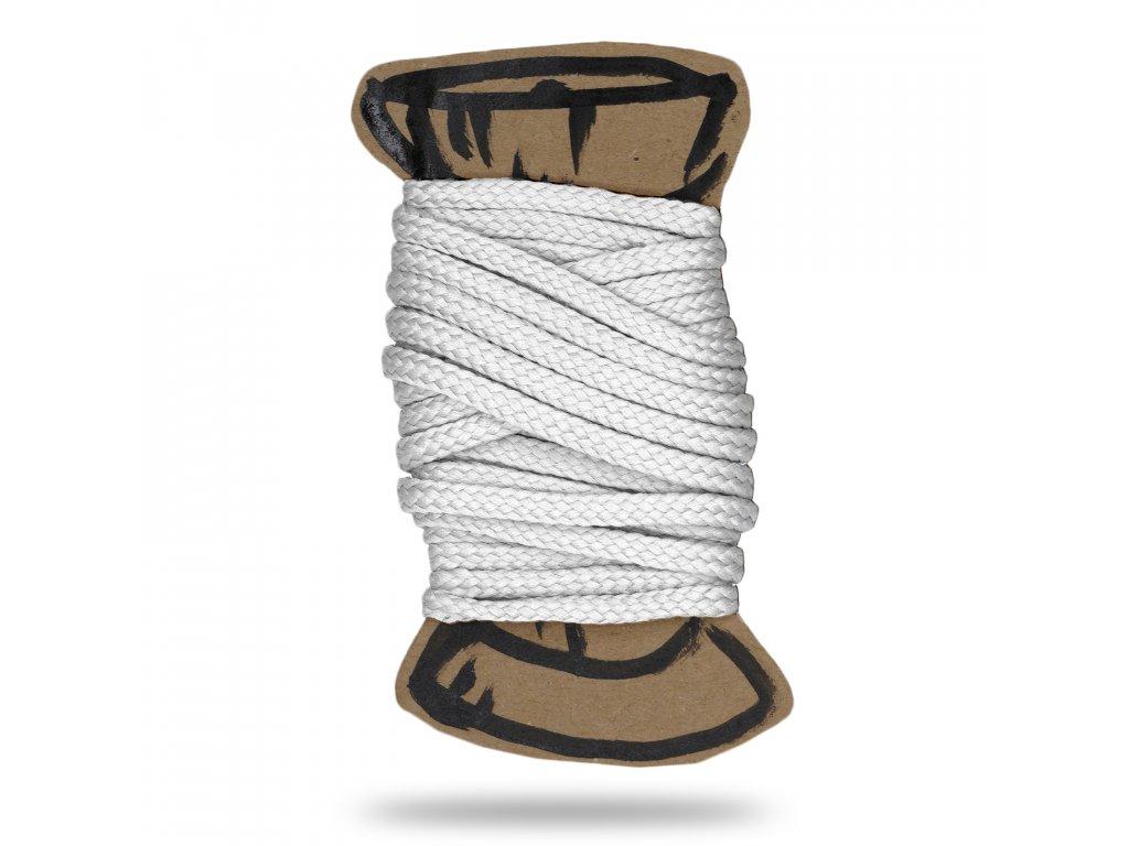 Šňůra polyesterová 0,4 cm, Balení 3 m, Bílá