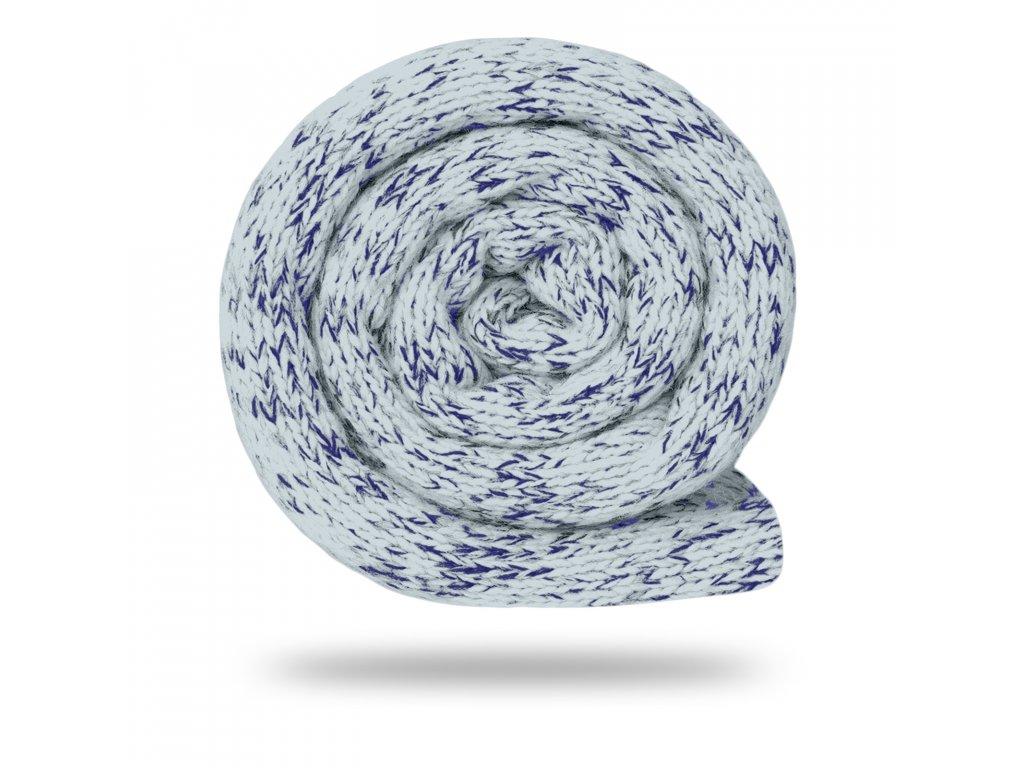 Svetrovina fleecová 280 g, Melír, Sv. Šedá s tm. modrou