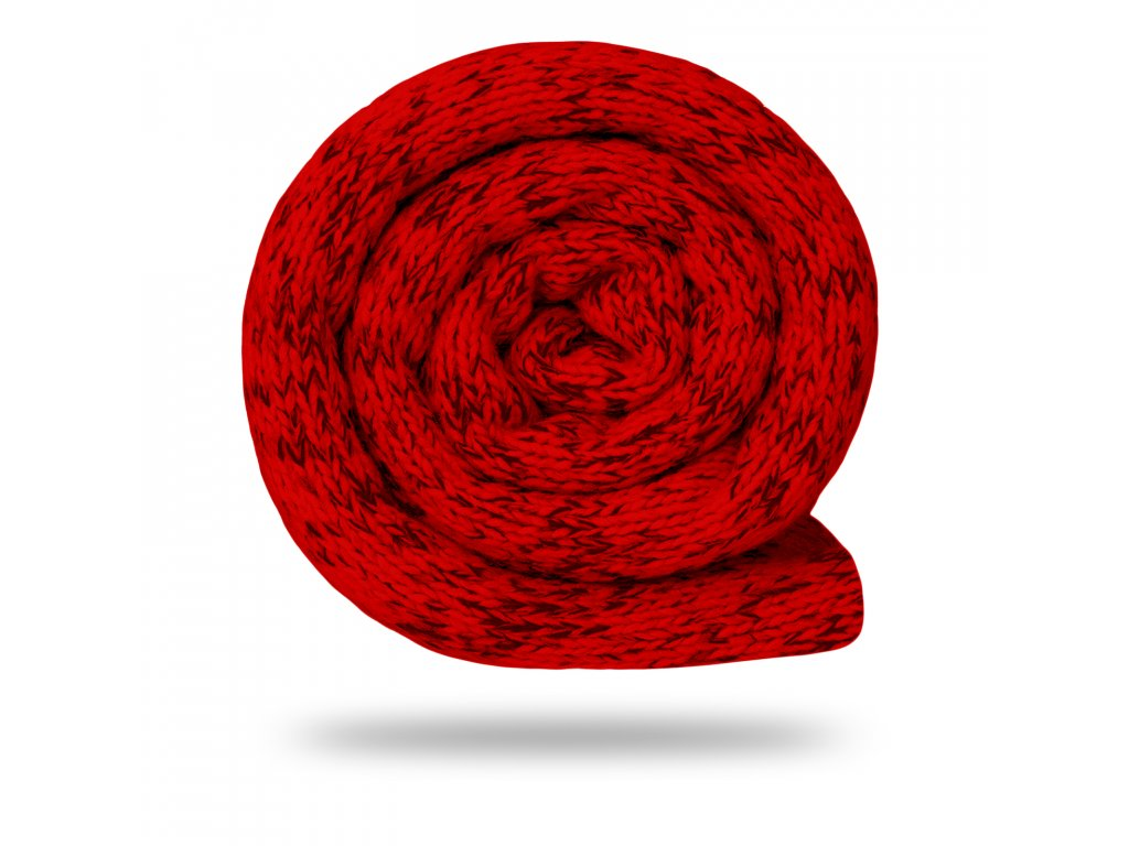 Svetrovina fleecová 280 g, Melír, Červená s černou